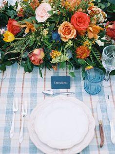 plaid wedding inspiration - photo by Tracy Enoch Photography http://ruffledblog.com/rust-and-thistle-wedding-inspiration