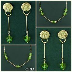 CKD PEDRAS E FOLHEADOS: Colar e brincos com cristais jablonex!! www.ckdsemijoias.com.br