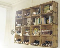 Shelf Made From Shipping Crates
