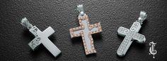 σταυροί βάπτισης, βαπτιστικοί σταυροί Τριάντος, gold crosses jewelry, κωδικοί προϊόντος από αριστερά : 1.1.1254, 1.1.1256 και 1.2.1124