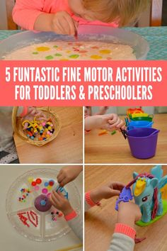 5 Funtastic Fine Motor Activities for Toddlers & Preschoolers. SImple to set…