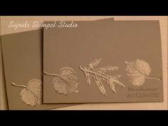 Stampin up  - French Foliage Embossing  -  Anleitung