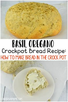 Looking for a crazy easy and delicious no brainer bread recipe? Then keep reading. This Basil Oregano Crockpot Bread Recipe is the perfect tutorial to teach you How to make Bread in the Crockpot. Basil Bread Recipe, Basil Recipes, Healthy Pasta Recipes, Easy Healthy Recipes, Bread Recipes, Oregano Recipes, Slow Cooker Bread, Slow Cooker Recipes, Crockpot Recipes