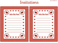 ladybug invitations free download | FREE Ladybug Party Printables from Printabelle | Catch My Party
