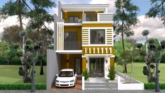 Modern Two Story House Plans Fresh Home Design Plan with 5 Bedrooms Plot Three Story House, Two Story House Plans, House Layout Plans, House Layouts, 5 Bedroom House Plans, Bungalow House Plans, Duplex House Design, Modern House Design, One Storey House
