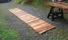walkway from pallets...make it larger for a patio!