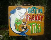 Tiki Tropical Beach Pool Patio Hut Bar Sign by FRANSCOUNTRYNY