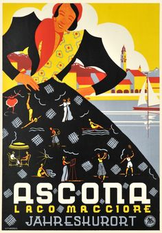 Ascona - Lago Maggiore - Vintage Posters - Galerie 123 - The place to find vintage art