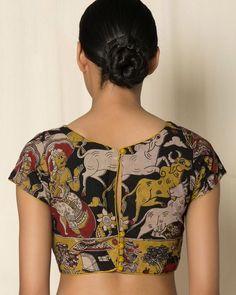 Shirt designs Purchase Multicoloured Indie Picks Kalamkari Print Cotton Shirt The Great thing about Kalamkari Blouse Designs, Blouse Designs Silk, Designer Blouse Patterns, Kalamkari Dresses, Kalamkari Blouses, Kalamkari Saree, Kurta Designs, Blouse Back Neck Designs, Simple Blouse Designs
