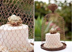 """Nesting"" baby shower cake"