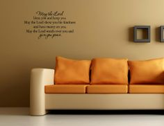 May the Lord bless you and keep you. Wall decal stickers quotes and sayings Vinylsay,http://www.amazon.com/dp/B004Z8ZVTS/ref=cm_sw_r_pi_dp_jFBstb0PHAN383HZ
