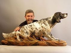 "Intricately Carved Wooden Animal Sculptures Leap To Life ""Guiseppe Rumerio sculpts lifelike animals with the most intrinsic anatomical details to … Carved Wooden Animals, Wooden Art, Tree Carving, Wood Carving Art, Wood Carvings, Tree Sculpture, Animal Sculptures, Wood Carving Patterns, Gravure"
