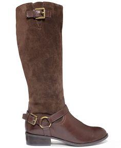 Lauren Ralph Lauren McLeod Wide Calf Riding Boots - Wide Calf Boots - Shoes - Macy's
