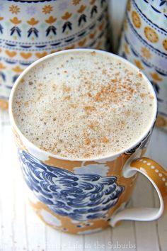 Homemade Eggnog Latte //  Make it at home with your regular coffee machine, no espresso machine necessary!