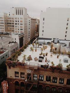 Vintage LA, 6th and Spring St., Hotel Hayward Rooftop. More here http://wikimapia.org/12014863/Hayward-Hotel-1905
