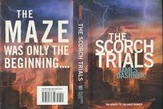 The Scorch Trials book cover printable for making a mini book charm