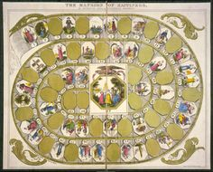 Old Board Games Post - The mansion of happiness, an instructive, moral & entertaining amusement. Lithograph published by B. W. Thayer & Co., 1843. http://hdl.loc.g...