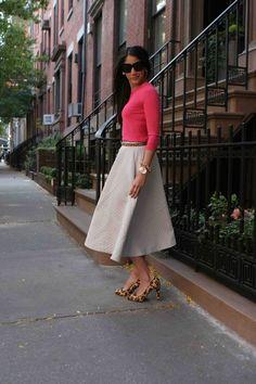 Full Skirt.  Fall Fashion 2013. #fullskirts #fallfashion #streetstyle