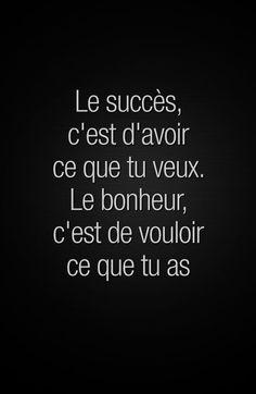 «Le succès, c'est d'avoir ce que tu veux. Le bonheur, c'est de vouloir ce que tu as» #citation #citationdujour #proverbe #quote #frenchquote #pensées #phrases #french #français #lesbeauxproverbes Stephen Covey, Confucius Citation, Daily Quotes, Me Quotes, Positive Attitude, Positive Affirmations, Peace And Love, Quotations, Encouragement