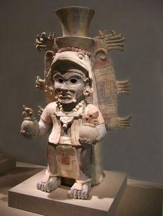 Effigy urn in the form of the Sun God Mexico eastern Yucatan Postclassic Maya Mayapan style 12-14th century Earthenware