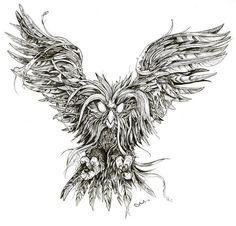 Owl-Phoenix hybrid. Protector (Προστάτης)