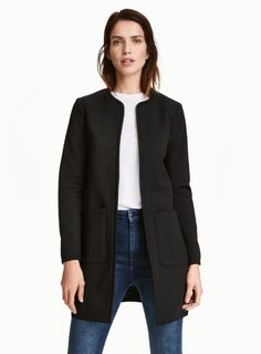 Classic Collarless Coat $50 Tomboy Fashion, Fashion Outfits, Coats For Women, Jackets For Women, Ladies Jackets, Look Casual, H&m Shorts, Timeless Fashion, Work Wear