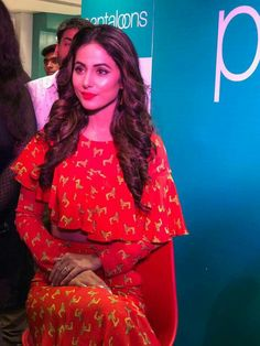 #Hinakhan in an event in Allahabad #Pantaloons