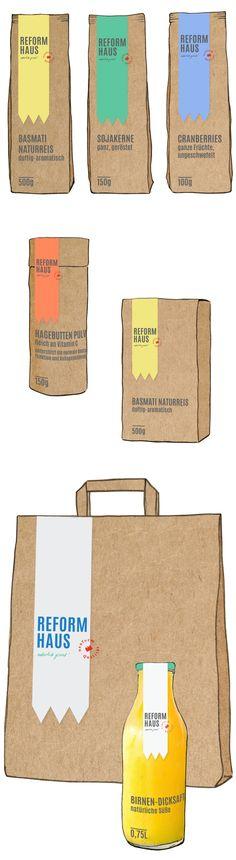"""""""Natürlich gesund!"""" – Ein Logo- und Packaging-Konzept für das Reformhaus. #Mutabor #Brand #Prototyping #Reformhaus #Bio #Logo #Packaging"""