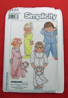 Baby/Toddler/Girls  Vintage Simplicity 9432 One by DiamondsAttic, $4.50