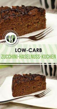 Zucchini-Haselnuss-Kuchen The zucchini-hazelnut cake is nice juicy, tasty and low-carb. Paleo Dessert, Low Carb Desserts, Healthy Desserts, Lemon Recipes, Cake Recipes, Bolos Low Carb, Desserts Sains, Hazelnut Cake, Savoury Cake