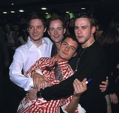 Lord Of The Bromances, Remembered In Photos Dominic Monaghan, Billy Boyd, Elijah Wood with Orlando Bloom.