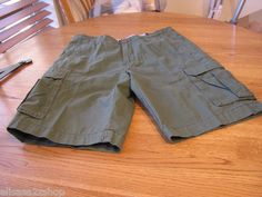 Men's Tommy Hilfiger shorts cargo green 40 NEW NWT 7810824 376 casual TH RARE