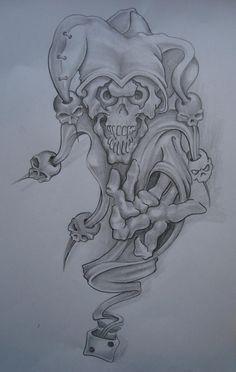 Joker Tattoo Sketches Joker tattoo1 by antenapunk