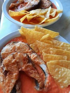 Lecsós ponty nachossal Nachos, Chips, Meals, Cooking, Breakfast, Recipes, Food, Red Peppers, Kitchen