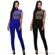 2016 New Spring Bodysuit Women Sexy Night Club Women 'S Hot Drilling Sleeveless Skinny Trousers Rompers Womens Jumpsuit Macacao Zcc129 From Shadowking, $14.08 | Dhgate.Com