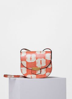 Small Trotteur Bag in Printed Watersnake - Céline