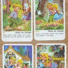 Vintage kwartetkaarten, Sprookjes, 10 x 6,5 cm, 36 stuks, hobbymateriaal, spelonderdelen by LabelsAndMore on Etsy