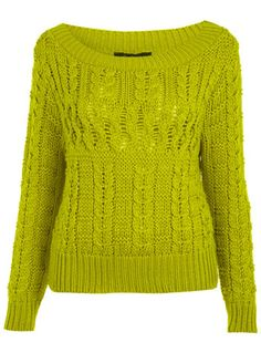 Chartruese Cable Jumper - The Collective  - Apparel