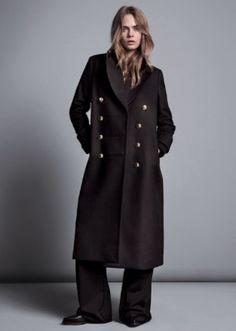 cara delevigne, model, oversized, wool, coat, winter, mango, style, fashion