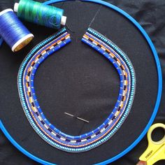 Making of our masai inspired beaded collars