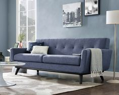 Blue Living Room Decor - When painting a room two colors which wall should be darker? Blue Living Room Decor - Should I paint my living room and dining room the same color? Blue Living Room Decor, Dining Room Blue, My Living Room, Quality Furniture, Cheap Furniture, Blue Furniture, Sofa Furniture, Mid Century Couch, Best Sofa