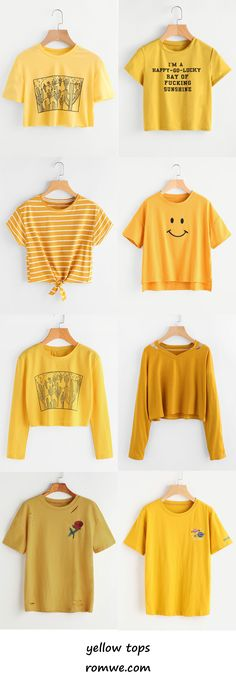 yellow tops 2017 - romwe.com