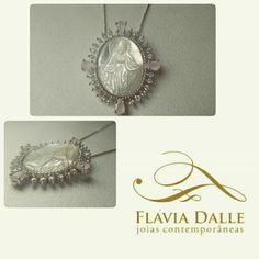#necklace #banhorhodium #rhodium #madreperola #zircônias #quartzorosa