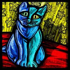 This blue bird is a limited edition work of art, uniquely crafted by Peter McGrain and made to order. Stained Glass Paint, Stained Glass Panels, Fused Glass Art, Sandblasted Glass, Kiln Formed Glass, Light Reflection, Blue Cats, Op Art, Blue Bird