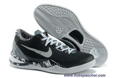 buy popular 2fe85 f0301 Pas Cher NoirGrisBlanc 613959 001 Premium Nike Kobe 8 System PP Kobe