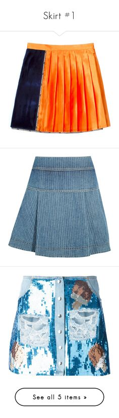 """""""Skirt #1"""" by cherrykiss-official ❤ liked on Polyvore featuring skirts, mini skirts, bottoms, short mini skirts, elastic waist mini skirt, short skirt, elastic waistband skirt, blue, blue denim skirt and multi layered skirt"""