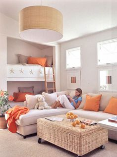 Neutrals and Orange - Coastal Living