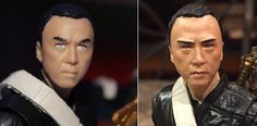 Chirrut Imwe Star Wars Rogue One Black Series Custom Repaint action figure before and after