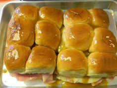 hot ham n cheese ready to go in oven