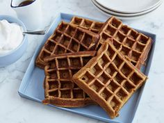 Get this all-star, easy-to-follow Gingerbread Waffles recipe from Rachael Ray.